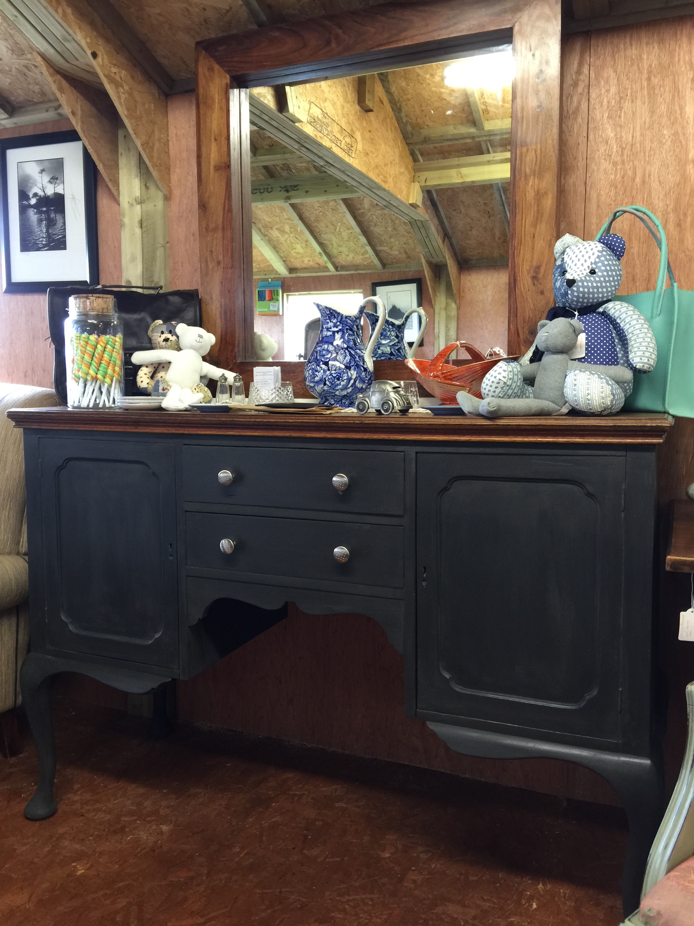A French Oak Sideboard in Navy Black