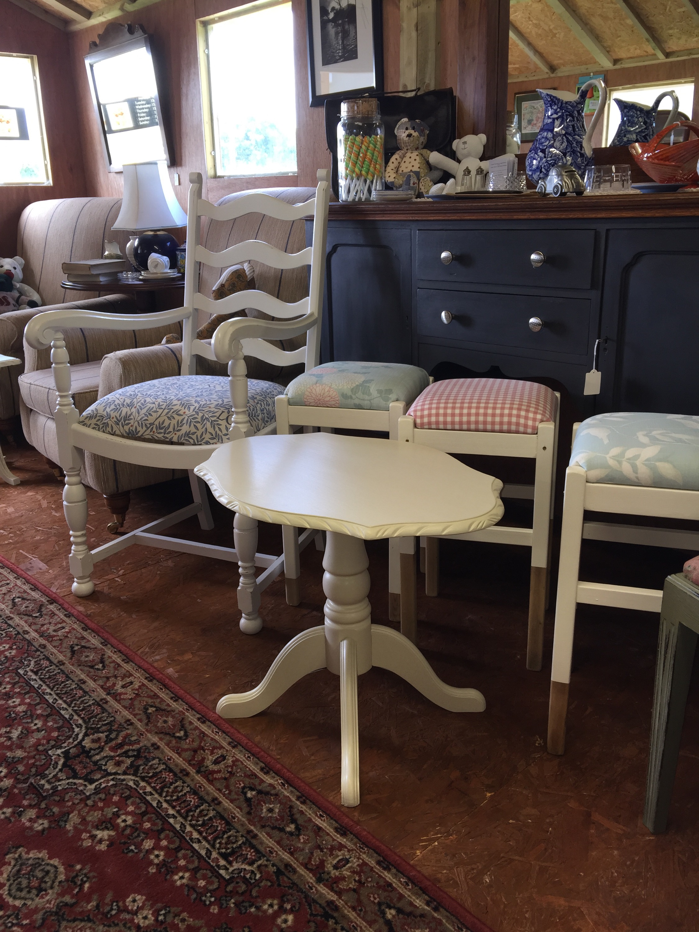 A Vintage White Ocassional Table
